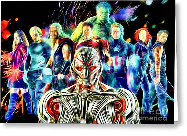 Avengers Age Of Ultron In Color Greeting Card