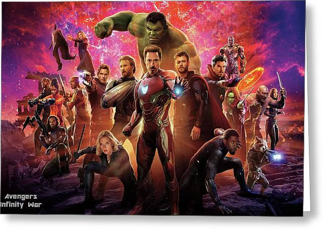 Avengers Infinity War Greeting Card