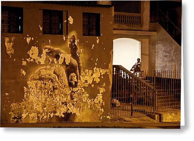 Greeting Card featuring the photograph Avenue De Los Presidentes Havana Cuba by Charles Harden