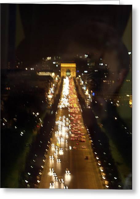 Avenue Des Champs D Elysees Greeting Card