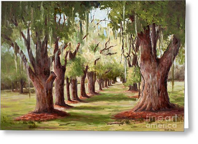 Avenue Of Oaks Iv  Greeting Card