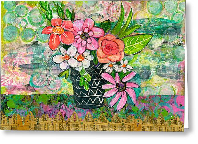 Avery Daisy Flower Greeting Card by Blenda Studio