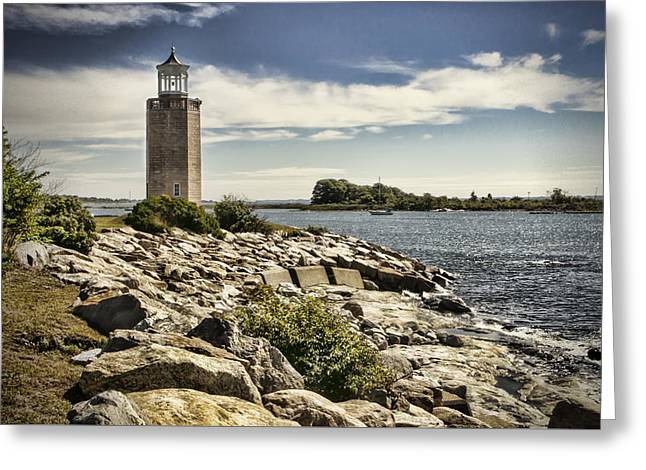 Avery Point Lighthouse Greeting Card by Phyllis Taylor