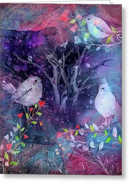 Avian Midnight Greeting Card