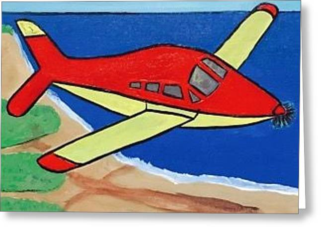 Aviation Painting. Original Acrylic Painting On Canvas. Greeting Card