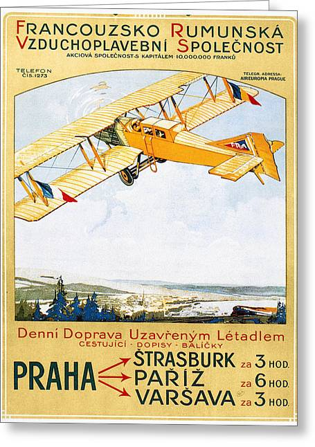 Aviation Poster, 1922 Greeting Card