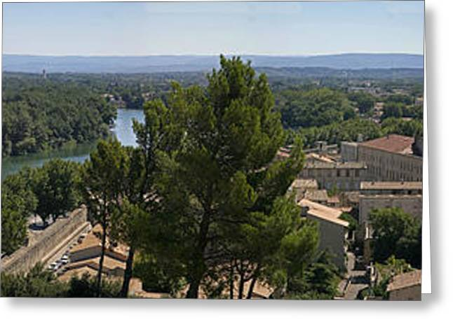 Avignon On The Rhone Greeting Card by Gary Lobdell