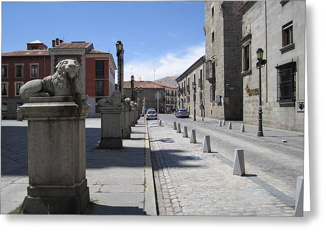 Avila Lions Spain Greeting Card