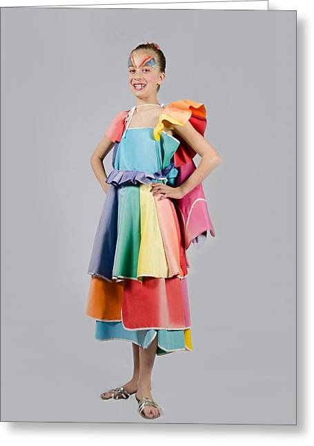 Aviva In Patio Umbrella Dress Greeting Card