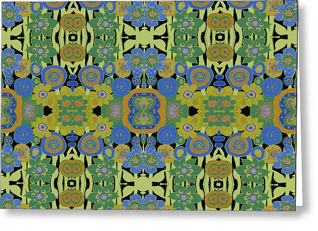 Avocado Blue Pattern Greeting Card