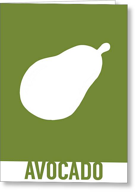 Avocado Food Art Minimalist Fruit Poster Series 021 Greeting Card