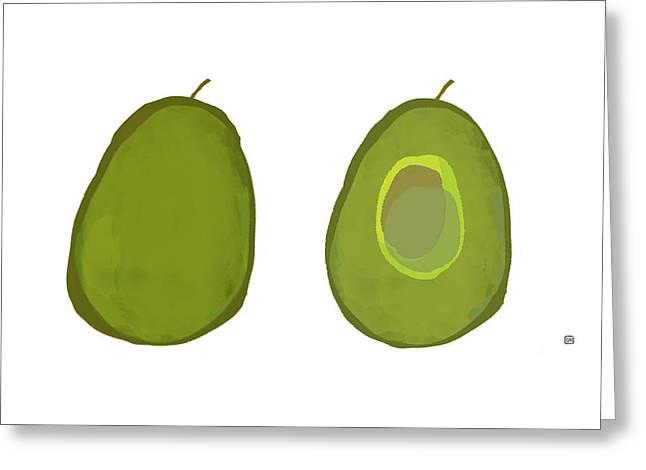 Avocados Greeting Card by Lisa Weedn