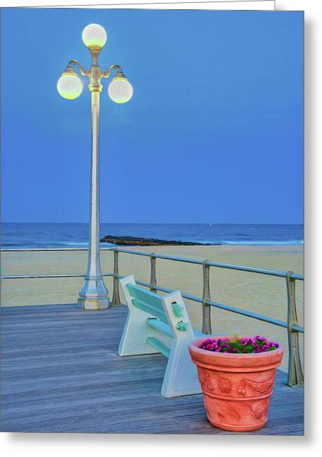 Avon Boardwalk At Twilight Greeting Card