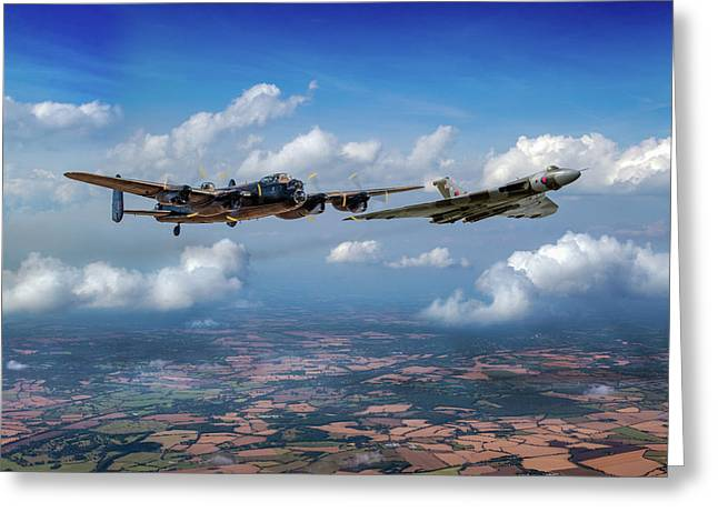 Greeting Card featuring the photograph Avro Sisters  by Gary Eason