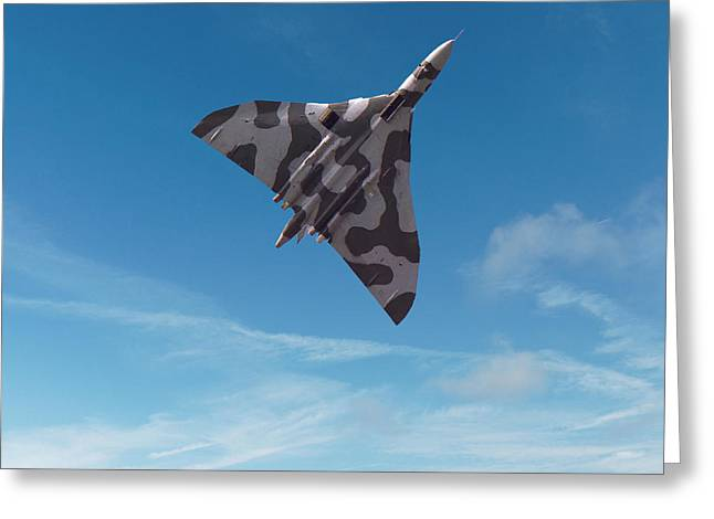 Greeting Card featuring the digital art Avro Vulcan -1 by Paul Gulliver