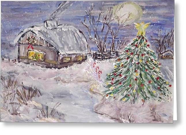 Awaiting Christmas  Greeting Card by Mary Sedici