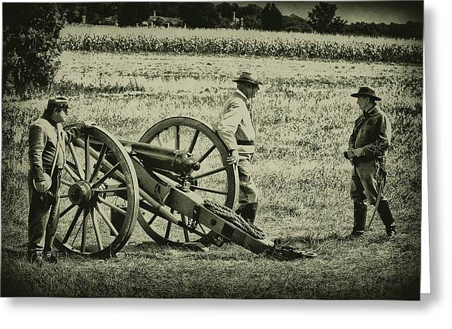 Awaiting Orders Greeting Card by Bill Cannon