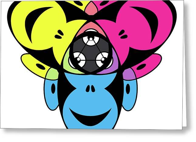 Awakened Ape Color Wheel Greeting Card