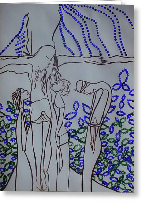 Awakening Of  Saint Longinus Greeting Card by Gloria Ssali