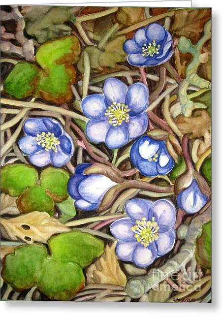 Awakening Of The Wild Anemone  Greeting Card