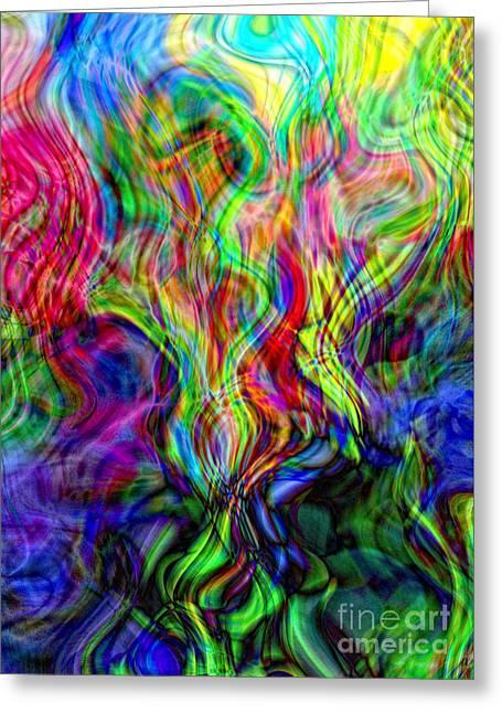 Awakening Serpent Power Greeting Card by Anna Sheradon