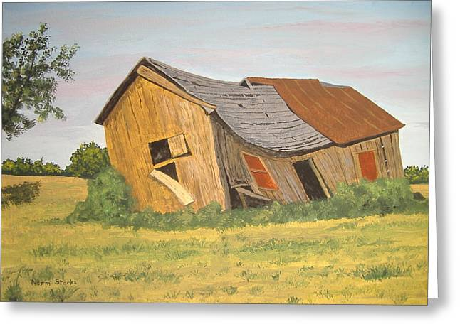 Greeting Card featuring the painting Award-winning Original Acrylic Painting - Now I Lay Me Down To Sleep by Norm Starks
