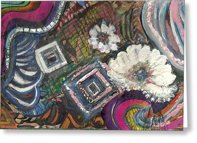 Away From The Lines Greeting Card by Anne-Elizabeth Whiteway