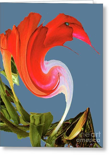 Greeting Card featuring the digital art Away We Go - Digital Art by Merton Allen
