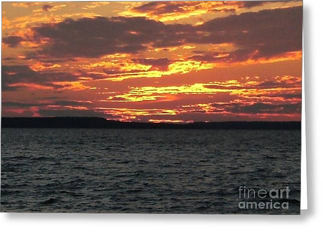 Awenda Sunsets Greeting Card by M O'Rourke