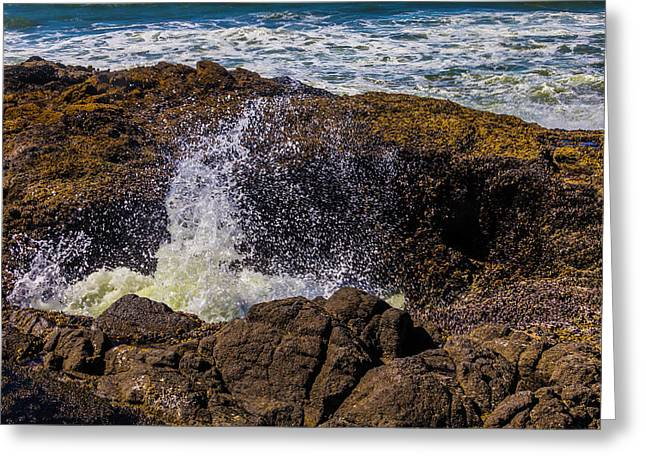 Awesome Thor's Well Greeting Card by Garry Gay