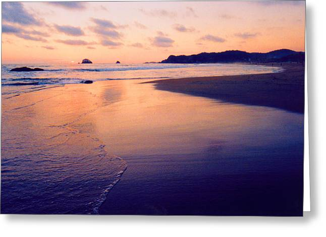 Awesome Zipolite Sunset 2 Greeting Card by Lyle Crump