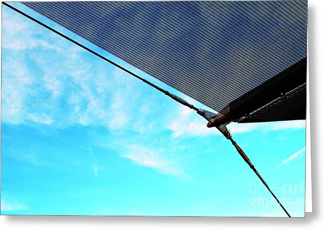 Awning Above A Wharf In Marseille Greeting Card by Sami Sarkis