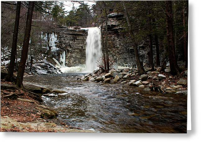 Awosting Falls In January #2 Greeting Card by Jeff Severson