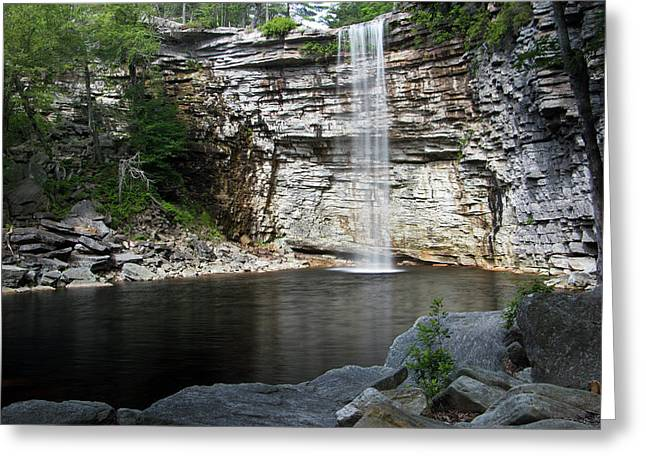 Awosting Falls In July II Greeting Card by Jeff Severson