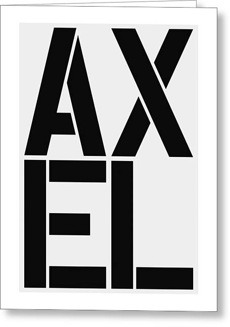 Axel Greeting Card by Three Dots