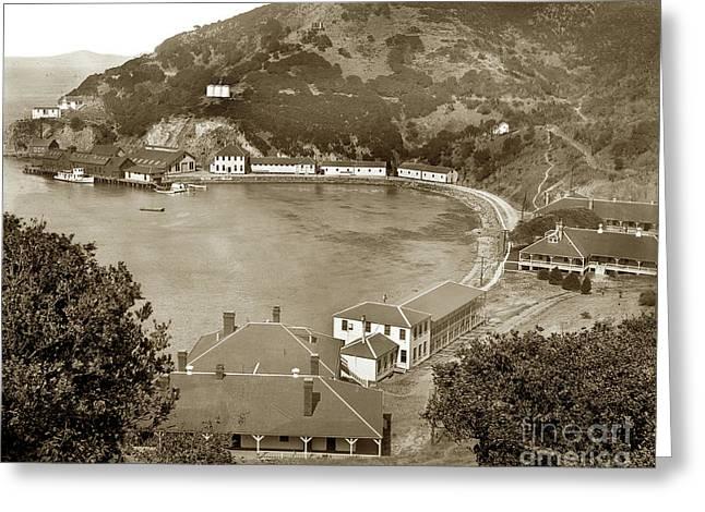 Ayala Cove Aka Hospital Cove With Dorms Angel Island Circa 1890 Greeting Card by California Views Mr Pat Hathaway Archives