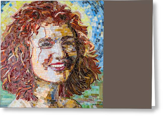 Ayala Mosaic Greeting Card by Adriana Zoon