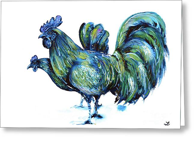 Ayam Cemani Pair Greeting Card