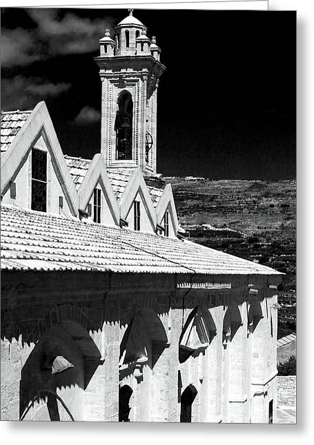 Ayios Neophytos Monastery View Greeting Card by John Rizzuto