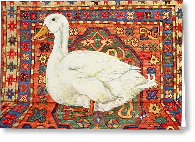 Aylesbury Carpet Drake Greeting Card by Ditz