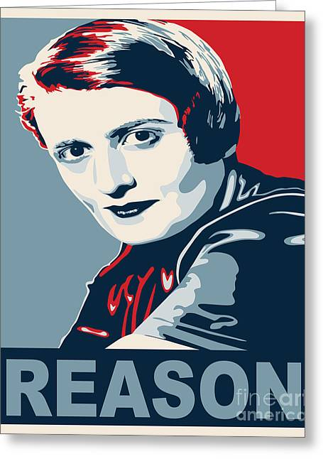 Ayn Rand Greeting Card by John L