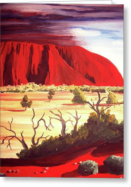 Ayres Rock Greeting Card by Martin Williams