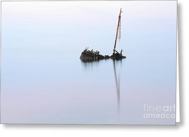 Ayrshire Shipwreck In Sunrise Ref3342 Greeting Card