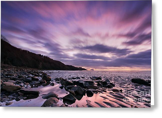 Ayrshire Sunset - Scotland Greeting Card by Rod McLean