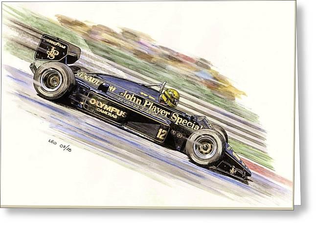 Ayrton Senna 1985 Greeting Card