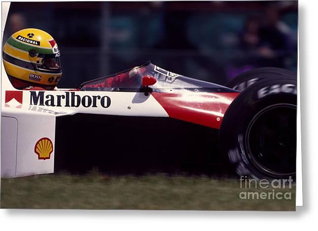 Ayrton Senna. 1989 Canadian Grand Prix Greeting Card