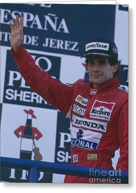 Ayrton Senna. 1989 Spanish Grand Prix Winner Greeting Card