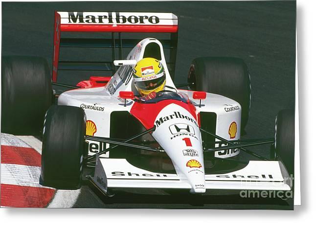 Ayrton Senna. 1991 Canadian Grand Prix Greeting Card
