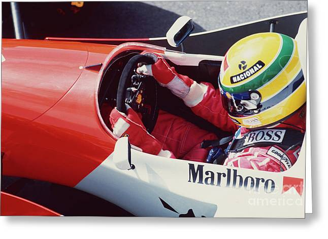 Ayrton Senna. 1993 Spanish Grand Prix Greeting Card