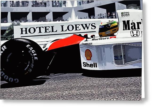 Ayrton Senna - Montecarlo Greeting Card